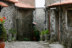 старое португальское село стоковые изображения rf