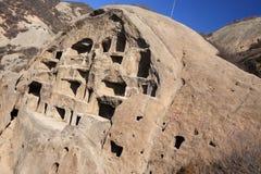Старое поселение пещеры Стоковые Изображения RF
