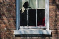 Старое постаретое окно стоковые изображения