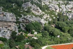 Старое провансальское baux de Провансаль les деревни стоковое фото