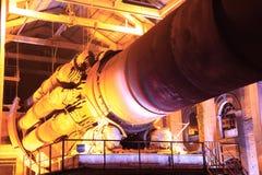 Старое производственное оборудование цемента Стоковое фото RF
