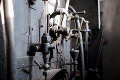 Старое промышленное машинное оборудование - винтажный конспект детали технологии - Стоковое Фото