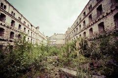 Старое промышленное здание в Гданьске Стоковые Изображения