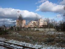 Старое промышленное здание Стоковые Фото