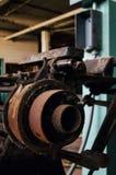Старое промышленное оборудование - покинутая текстильная фабрика Стоковое фото RF