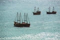 Старое плавание корабля в море Стоковое Изображение RF