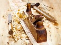 старое плоское деревянное Стоковые Фотографии RF