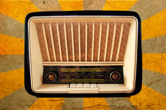 старое радио ретро Стоковое фото RF