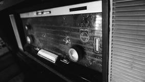 Старое радио Philips стоковая фотография