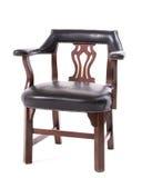 Старое драпирование кожи стула Стоковое Изображение RF