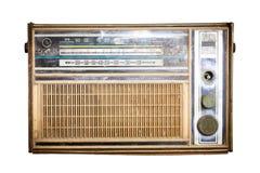 Старое радио, античное коричневое радио Стоковая Фотография