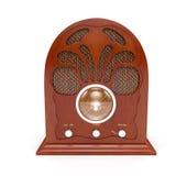 Старое радио на белой предпосылке Стоковое фото RF