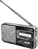 Старое радио Стоковые Изображения