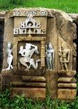 Старое резное изображение камня руин, индусский бог, Baraundha, Satna, Индия Стоковая Фотография RF