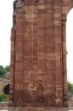 Старое резное изображение песчаника на стенах в Индии Стоковое Изображение