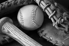 Старое ретро оборудование бейсбола стиля Стоковое Фото
