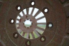 Старое ржавое железное зрение Стоковые Фотографии RF