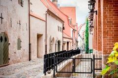 Старое Рига, Латвия Стоковая Фотография RF