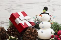 Старое рождество моды с снеговиком Стоковое Изображение RF