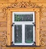 старое русское окно Стоковые Изображения RF