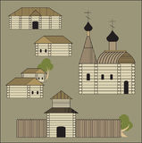 Старое русское поселение Стоковая Фотография RF