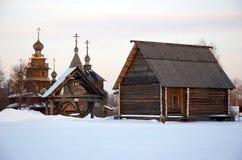 старое русское село Стоковые Фотографии RF