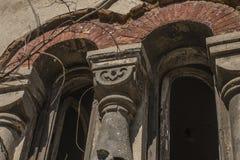 Старое сдобренное окно разрушенное к время Стоковое Изображение RF