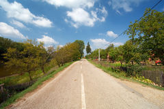 старое село дороги Стоковая Фотография RF