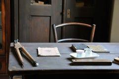 старое село таблицы Стоковая Фотография RF