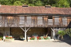Старое село Свят-Amand--Coly Стоковое Изображение
