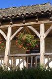 Старое село Свят-Amand--Coly Стоковое Изображение RF