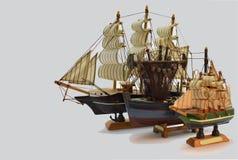 Старое смотря парусное судно стоковые фотографии rf