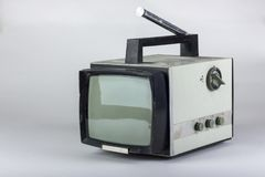 Старое советское малое черно-белое ТВ Стоковое Фото