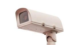 Старое состояние камеры CCTV на изолированной предпосылке Стоковая Фотография RF