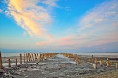 Старое соленое болото Стоковая Фотография