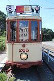 Старое строение трамвая HTM в 1920 названных HAWA которые restaurated и использовано для перемещений музея в Гааге стоковое фото