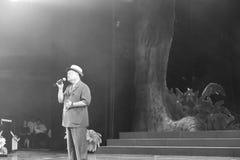 Старое тайваньское chencunjin певицы поет стоковое фото rf