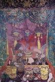 Старое тайское искусство в китайском стиле стоковое изображение rf
