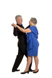 Старое танцы пар Стоковые Фото
