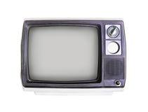 Старое телевидение на белизне Стоковые Изображения RF