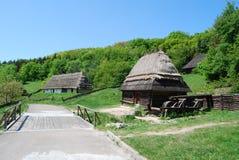 старое украинское село Стоковые Изображения RF