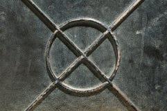 Старое украшение двери металла Стоковая Фотография RF