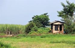 Старое укрытие в ферме стоковые изображения