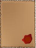 старое уплотнение пергамента Стоковая Фотография RF