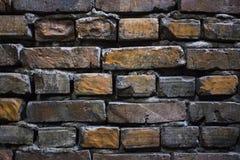 Старое фото конца-вверх предпосылки кирпичной стены grunge стоковые фотографии rf