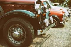 Старое фото классического автомобиля Стоковые Изображения