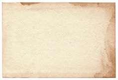 Старое фото на белой предпосылке Стоковая Фотография RF