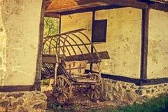 Старое фото на одном румынском экстерьере сельского дома Стоковое Изображение RF