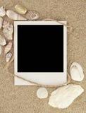 Старое фото на песке Стоковое Изображение RF