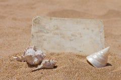 Старое фото на пляже Стоковое Изображение